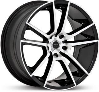 20 x10 Ruff Racing R945 Black Machined Wheels Rims