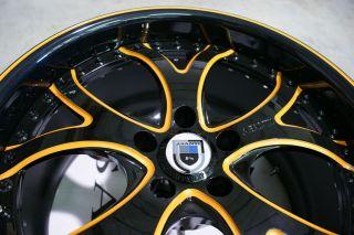 143 Lambo Black Orange Wheels Rims 3 Piece Lamborghini Gallardo