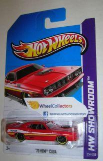70 Hemi Cuda Red 2013 Hot Wheels B Case International 234