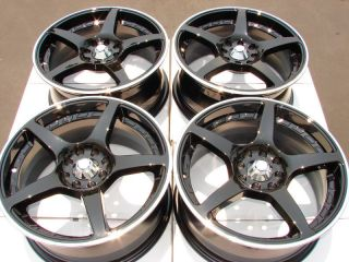 Black Effect Wheels Mirage Focus Miata Cobalt Cougar 4 Lug Rims