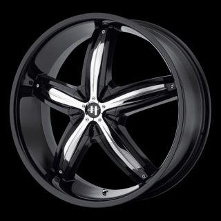 18 x8 Helo HE844 844 Black Wheels Rims 5 6 8 Lug