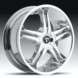 20 Dub Stallion Wheels Tires 20 inch Chrome 5 Lug Rims