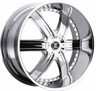 2CRAVE No4 22x9 5 5x115 5x120 ET15 Chrome Wheel 1 New Rim