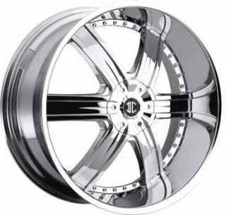 2CRAVE No4 22x9 5 5x115 5x120 ET15 Chrome Wheel 1 New Rim