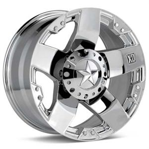 20 XD XD775 Rockstar Wheels Tires Chrome Offroad Rims