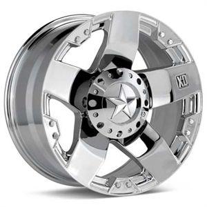 20 XD XD775 Rockstar Wheels Tires Chrome Offroad Rims