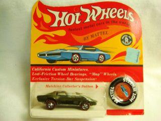 Hot Wheels Red Line RL HK Unpunched Blister Pack Olive Custom Corvette