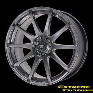 x8 Motegi MR274 SP10 Hyper Black 4 5 Lugs Wheels Rims Free Lugs