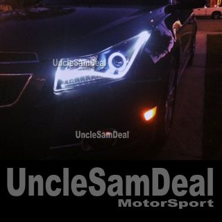 11 12 CHEVY CRUZE HALO RIM R8 STRIP LED AMBER SIGNAL PROJECTOR