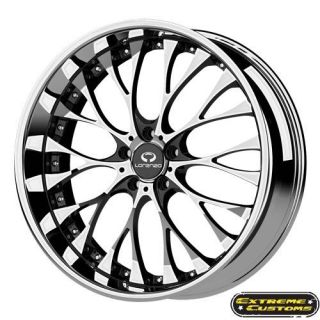 19 x8 Lorenzo WL027 Chrome 5 Lug One Single Wheel Rim