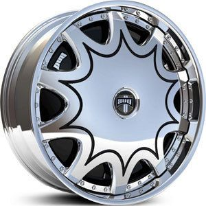 Stashola Wheel Set 26x10 Chrome Rims for rwd 5 6 Lug Vehicles