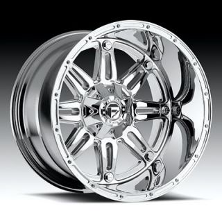x11 Fuel Hostage Wheels Chrome Rim 8 lug Ford Chevy Dodge Hummer H2