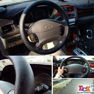 Genuine Leather Steering Wheel Cover 370mm 380mm Tong
