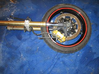 04 05 Suzuki GSXR 750 600 Front Rim, Fork Shocks, Rotors, Brake
