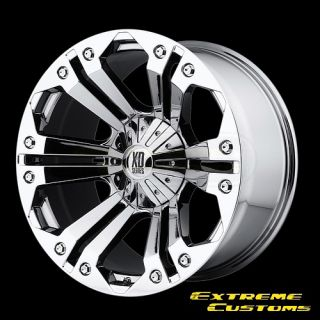 XD Series XD778 Monster Chrome 5 6 7 8 Lug One Single Wheel Rim