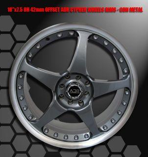 18 adr 4x100 114 3 4 Lug Wheel Rims Nissan 240sx Sentra