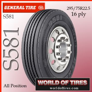 General S581 295 75R22 5 16 Ply 22 5 Tires