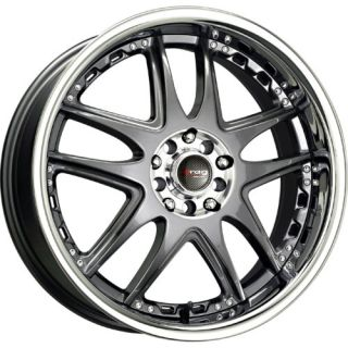 17 Drag DR14 Gun Metal Wheels Rims 5x100 114 3 5LUGS