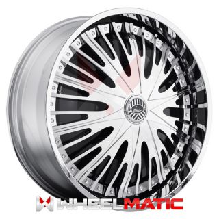 Davin Spinners Twisted 26x10 Blank 5X 6X 10 Wheels Rims Chrome