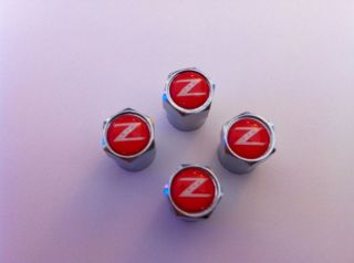 Nissan GT R 350Z 370Z 300zx Red Logo Wheel Tire Valve Caps