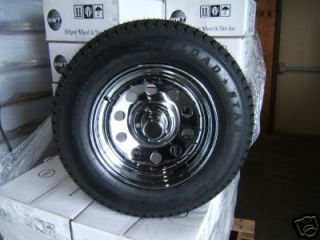 15 Chrome Mod Trailer Rim Tire Wheel Assembly Cap Nuts