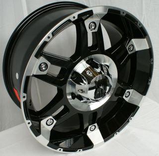 XD797 Spy Black Machined 5 6 8 Lugs Wheels Rims Free Lugs