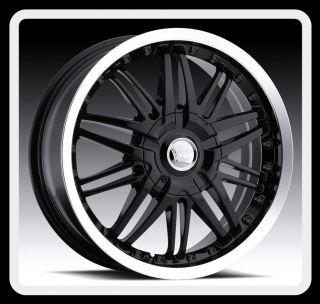 17 Vision 381 5x115 Impala Monte Carlo Charger Black Wheels Rims Free
