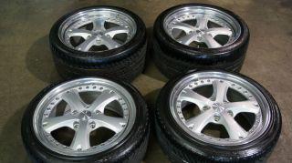 18 oz Porsche 911 964 993 Carrera 2 Piece Racing Wheels Tires