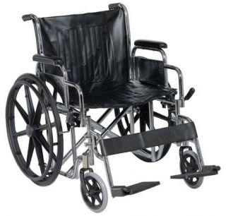 Wheelchair Bariatric 400 lb Capacity Heavy Duty 22 Wheels Padded Wide