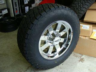 18 Moto Metal 962 Chrome wheels 18x9 285 65R18 Nitto Terra Grappler 33