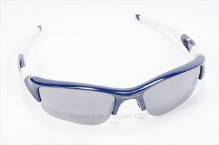 blue white NY YANKEES FLAK JACKET sunglasses MLB half rim 250 SHOPWORN