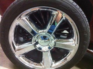 Chrome PVD Coating Chevrolet LTZ Tahoe Wheels Rims Tires 6x5 5