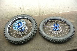 250 YZ 250f Excel Front Rear Wheel Set Rims Tires Hubs Rotors