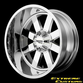 20 x9 Moto Metal MO962 Chrome 5 6 8 Lug Wheels Rims Free Lugs