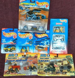 Lot of 5 Hot Wheels 2 Matchbox Sets Truck Forklift Blimp Little Debbie