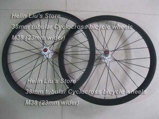 700C 38mm Tubular carbon Cyclocross wheels Cyclo cross bike wheelset