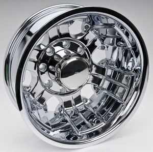 Detroit Wheels 175 6670RC Blem 175 Chrome Dually Rear Wheel