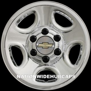 16 Chrome Wheel Skins Rim Hub Cap Covers 5spoke Steel Wheels