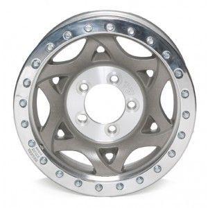 Racing Polished Aluminum Beeadlock Custom Wheels 17x9 8 on 6 5
