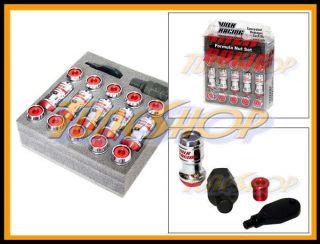 FORMULA WHEELS LOCK LUG NUTS 12X1 5 1 5 ACORN RIM CLOSE END RED JDM U
