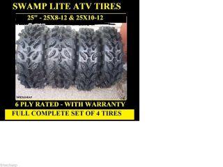 Arctic Cat 500 00 09 25 Swamp Lite ATV Tires Complete Set 4