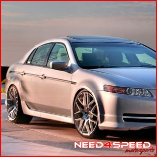 Acura TL Avant Garde M310 Concave Staggered Silver Wheels Rims