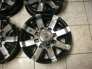 Aluminum Black Travel camper Utility Cargo Trailer Wheels Rims