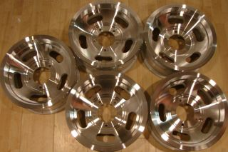 Vintage 70s 15x7 Slot Mags Wheels Rims 5 Lug 5x5 5 Ford Dodge Jeep