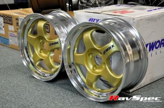 2P 15 Gold 2 Piece Modular Wheels with Step Lip 4x114 Toyota