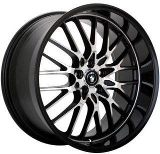 15 Konig Lace Rims Wheels Black 5x100 5x114 3 Civic XB