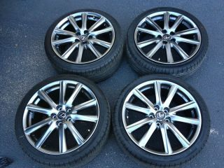 isf F Sport 19 Alloy Wheels Rims Dunlop Tires Staggered 18 20