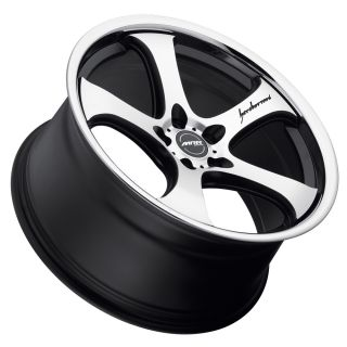 Black Chrome Staggered Setup Wheels Rims Fit Nissan 350Z 370Z
