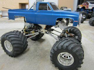 Tamiya Clodbuster Clod Buster ESP 4 Chassis Chrome Wheels Novak Cheap