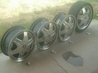 Dub Davin Spinners Black Complete 18 Tire Wheel Rims